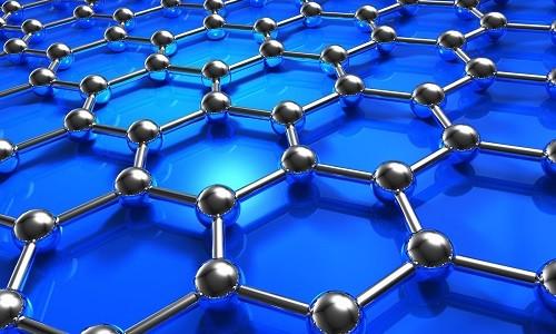 Abstract blue molecular nanostructure model